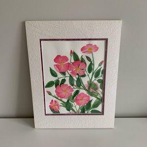 Vintage Watercolour Floral Painting